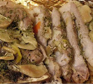 Рецепт Свинина, запеченная с сельдереем