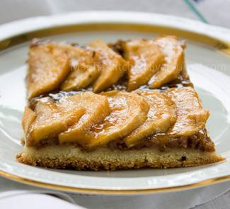 Рецепт Открытый яблочный пирог