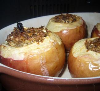 Рецепт Яблоки фаршированные овсянкой с финиками