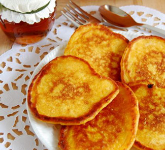 Рецепт Тыквенные оладьи с медом