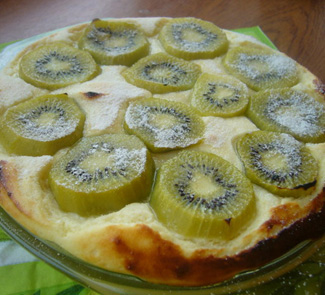Рецепт Творожная запеканка-суфле с киви
