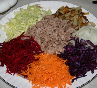 Рецепт Салат Дружба народов