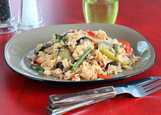 Рецепт Рис с овощами