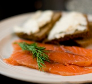 Рецепт Малосольный лосось для завтрака