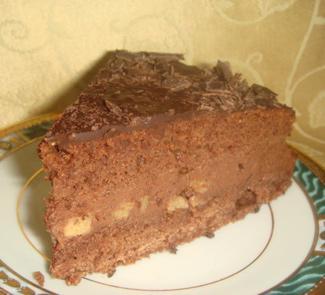 Рецепт Гречишный торт с грушей и творожно-шоколадным кремом