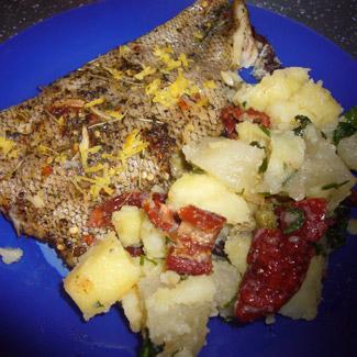 Рецепт Рыба, запеченная в пряном маринаде