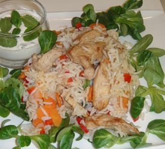 Рецепт Цыпленок с рисом и йогуртом