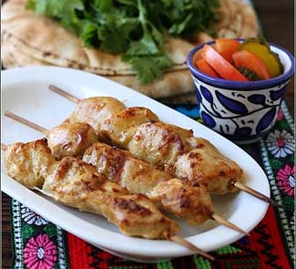 Рецепт Куриные шашлыки на шпажках