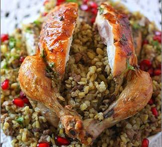 Рецепт Цыплята фаршированные фрике