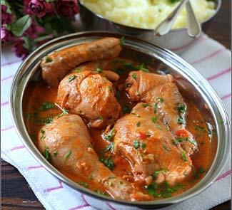 Рецепт Цыпленок в томатно-кокосовом соусе