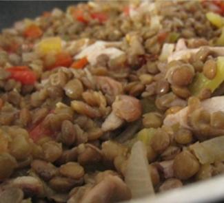 Рецепт Курица с чечевицей