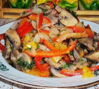 Рецепт Теплый салат Афина Паллада