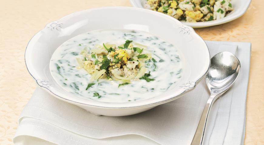 Рецепт Суп из шпината от Анастасии Волочковой