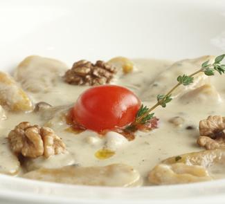 Рецепт Ньокки с тыквой с медом и орехами
