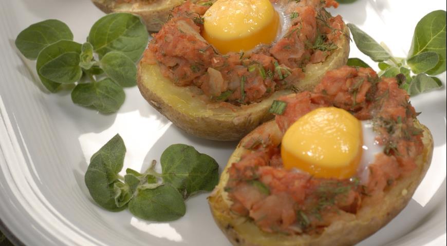 Рецепт Картофель, запеченный с яйцами