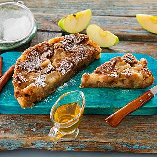 Рецепт Яблочный пудинг из черного хлеба в мультиварке