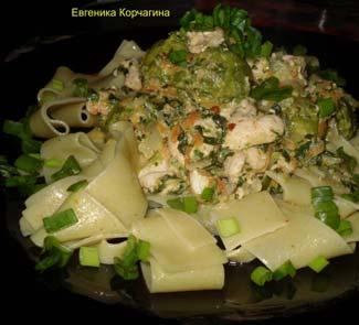 Рецепт Штрудли с курицей и овощами