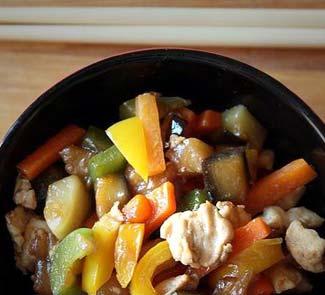 Рецепт Курица с овощами в японском стиле