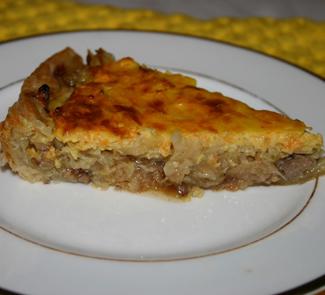 Рецепт Пицца с печенью и капустой