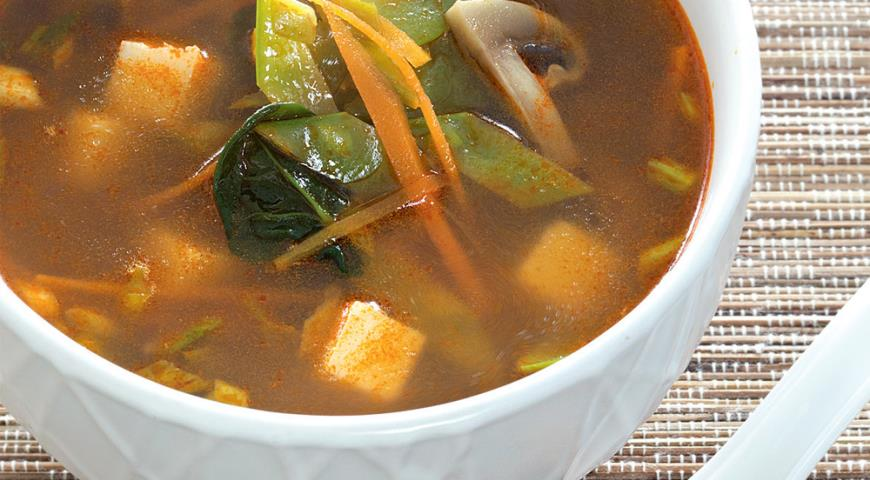 Рецепт Мисо-суп с овощами и тофу