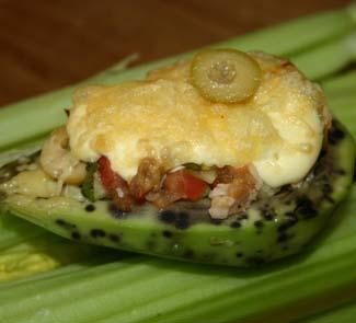 Рецепт Салат из баранины в авокадо