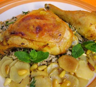 Рецепт Курица с топинамбуром