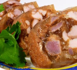 Рецепт Заливное из курицы с потрошками