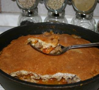 Рецепт Баранина с абрикосами под миндальной корочкой