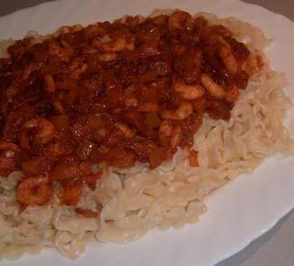Рецепт Паста с томатным соусом и креветками