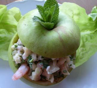 Рецепт Яблоки, фаршированные креветками