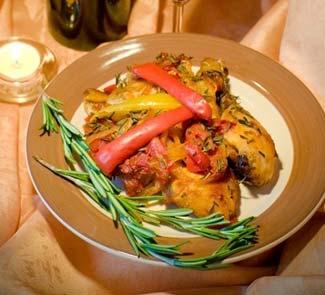 Рецепт Курица по-итальянски с овощами и ароматными травами