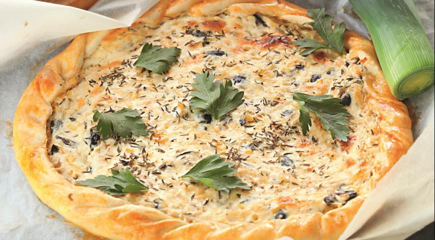 Рецепт Пирог с козьим сыром