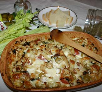 Рецепт Пикантная хлебная запеканка