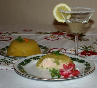 Рецепт Фруктовое желе с начинкой из рыбного мусса