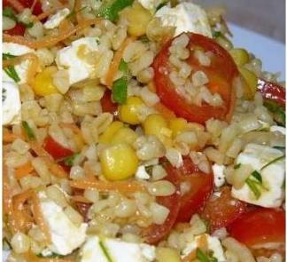 Рецепт Овощной салат с булгуром