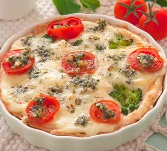 Рецепт Пирог Капрезе с мятным песто и брокколи