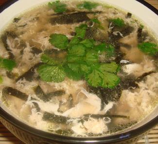 Рецепт Китайский суп с нори и яйцом