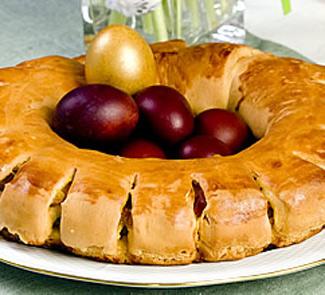 Рецепт Пирог Венок с цукатами и сухофруктами