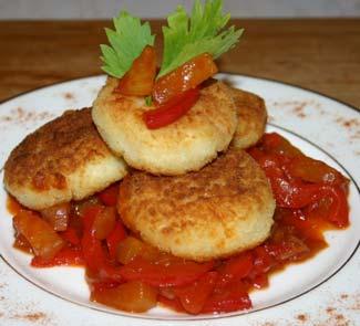 Рецепт Рисовые биточки с соусом из ананаса