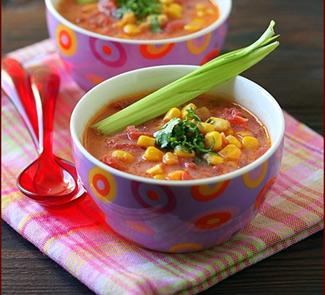 Рецепт Свекольно-кукурузный суп с кокосовым молоком