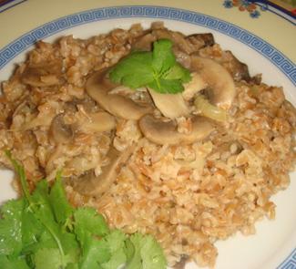 Рецепт Плов из ачара с грибами