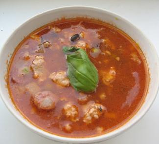 Рецепт Чили суп с баклажаном