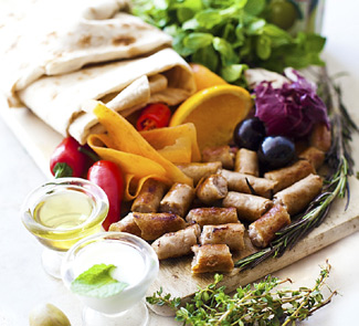 Рецепт Испанские Сувлаки в лаваше