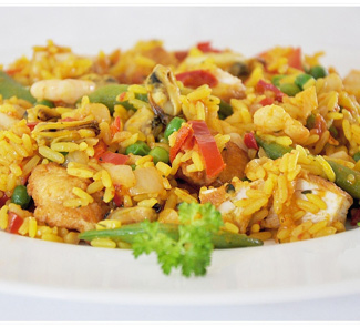 Рецепт Паэлья с морепродуктами и овощами