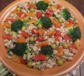 Рецепт Салат из перловки с овощами