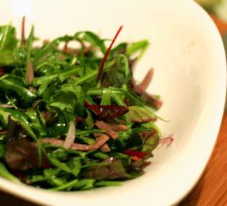 Рецепт Зеленый салат с языком