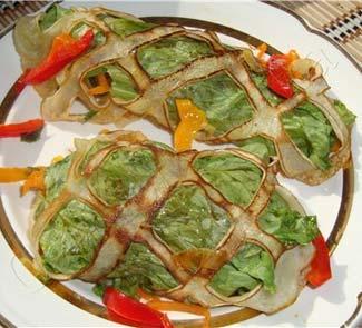 Рецепт Блины с овощами Шаурма-блин
