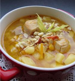 Рецепт Суп с курицей и арахисом
