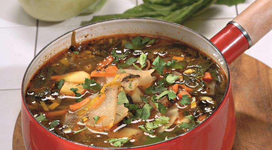 Рецепт Суп из кольраби