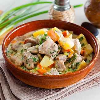 Рецепт Свинина, тушенная с овощами в мультиварке